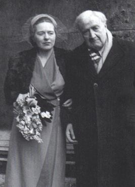 Ursula and Ralph Vaughan Williams on their wedding day in 1953.
