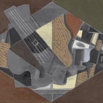 Georges Braque, Guitare et verre, 1917, Kröller-Müller Museum, Otterlo.